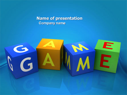 Game PowerPoint Template, 03861, Education & Training — PoweredTemplate.com