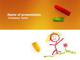 Drawing Chalk PowerPoint Template#1