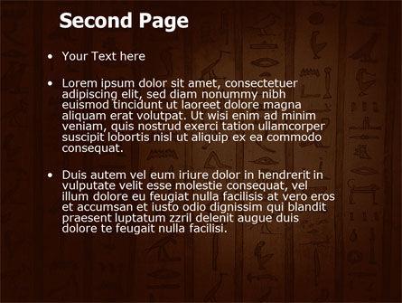 Egyptian Hieroglyphs PowerPoint Template, Slide 2, 03864, Religious/Spiritual — PoweredTemplate.com