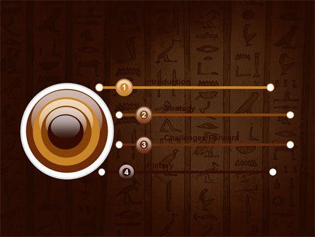 Egyptian Hieroglyphs PowerPoint Template, Slide 3, 03864, Religious/Spiritual — PoweredTemplate.com