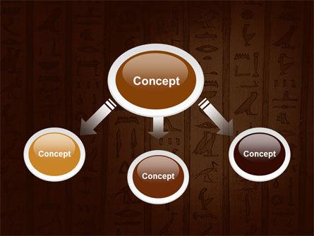 Egyptian Hieroglyphs PowerPoint Template, Slide 4, 03864, Religious/Spiritual — PoweredTemplate.com