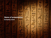 Religious/Spiritual: Egyptian Hieroglyphs PowerPoint Template #03864