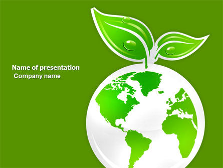 Nature & Environment: Grüner planet PowerPoint Vorlage #03867