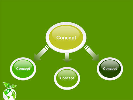 Green Planet PowerPoint Template, Slide 4, 03867, Nature & Environment — PoweredTemplate.com