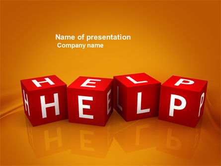 Business Concepts: Help Cubes PowerPoint Template #03869