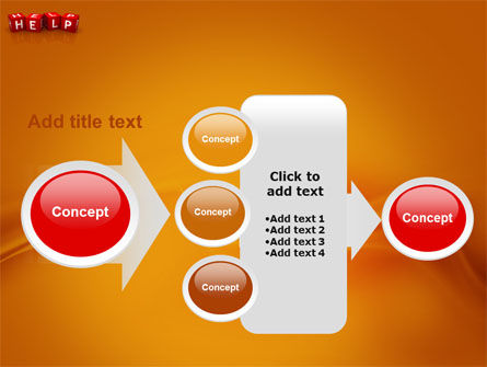Help Cubes PowerPoint Template Slide 17