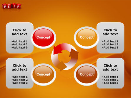 Help Cubes PowerPoint Template Slide 9