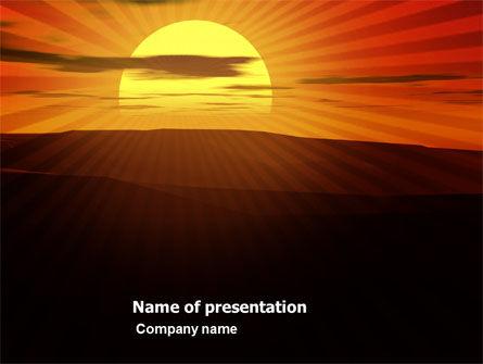 Nature & Environment: Sonnenuntergang PowerPoint Vorlage #03871