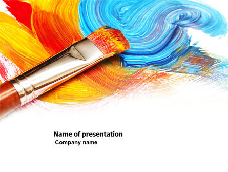 Oil Painting PowerPoint Template, 03873, Art & Entertainment — PoweredTemplate.com