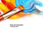 Art & Entertainment: Olieverf PowerPoint Template #03873