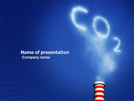 Nature & Environment: Plantilla de PowerPoint - gas carbónico #03874