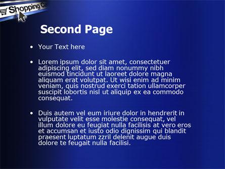e-Shopping Cart PowerPoint Template, Slide 2, 03878, Business — PoweredTemplate.com