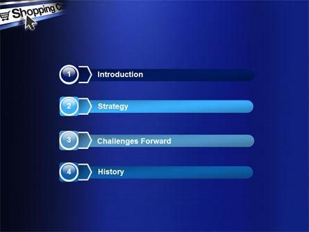 e-Shopping Cart PowerPoint Template Slide 3