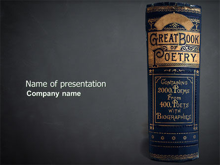 Book of Poetry PowerPoint Template, 03879, Education & Training — PoweredTemplate.com
