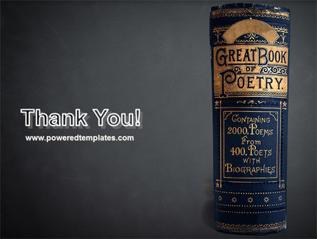 Book of Poetry PowerPoint Template Slide 20