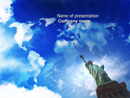 America: America and World PowerPoint Template #03882