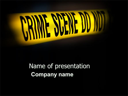 Legal: Crime Scene PowerPoint Template #03883