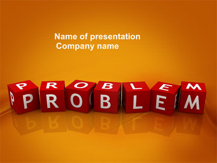 Problem PowerPoint Template, 03887, Education & Training — PoweredTemplate.com
