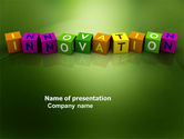 Education & Training: Innovation Cubes PowerPoint Template #03888