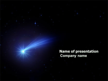 Technology and Science: Fallen Star PowerPoint Template #03889