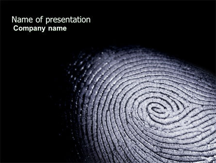 Fingerprint PowerPoint Template, 03890, People — PoweredTemplate.com