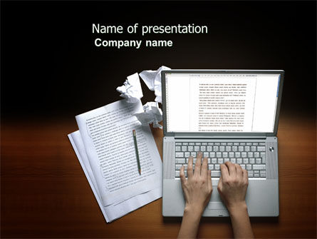 Proofreading PowerPoint Template, 03891, Technology and Science — PoweredTemplate.com