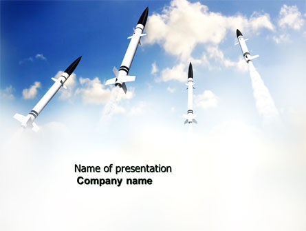 Missiles PowerPoint Template, 03894, Military — PoweredTemplate.com