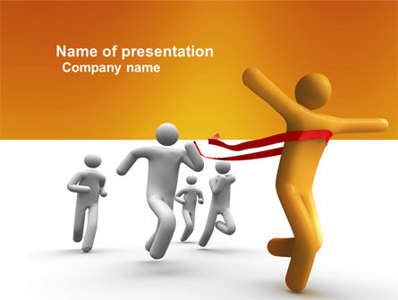 Business Concepts: Victory In The Race PowerPoint Template #03896