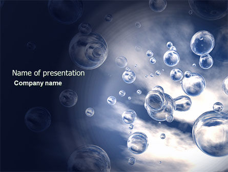Nature & Environment: Bubbles PowerPoint Template #03897
