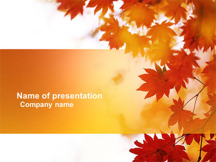 Nature & Environment: Autumn Season PowerPoint Template #03898