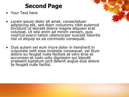 Autumn Season PowerPoint Template, Slide 2, 03898, Nature & Environment — PoweredTemplate.com