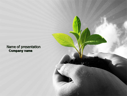 New Sprout PowerPoint Template, 03899, Nature & Environment — PoweredTemplate.com