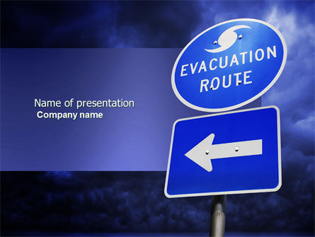 Evacuation Route PowerPoint Template, 03908, Nature & Environment — PoweredTemplate.com