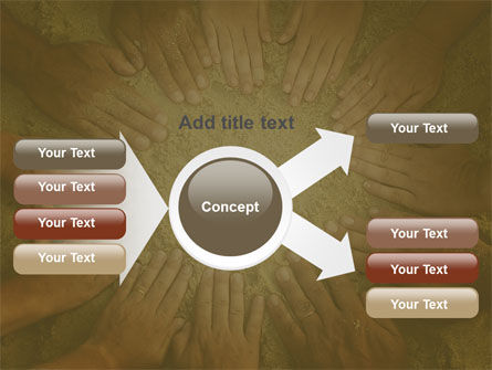 Unity Hands Touching Ground PowerPoint Template Slide 14