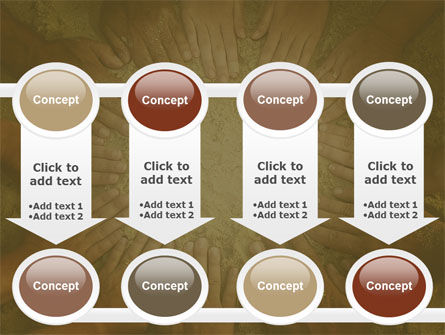 Unity Hands Touching Ground PowerPoint Template Slide 18