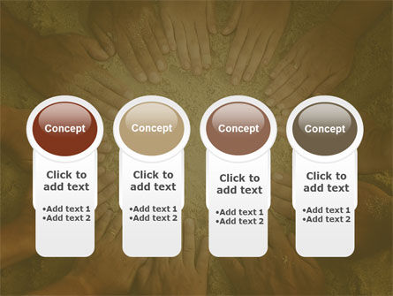 Unity Hands Touching Ground PowerPoint Template Slide 5