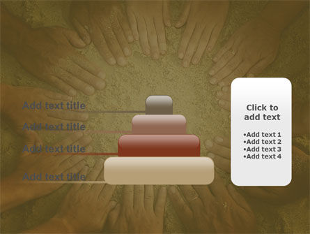 Unity Hands Touching Ground PowerPoint Template Slide 8