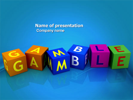 Gamble PowerPoint Template, 03915, Careers/Industry — PoweredTemplate.com