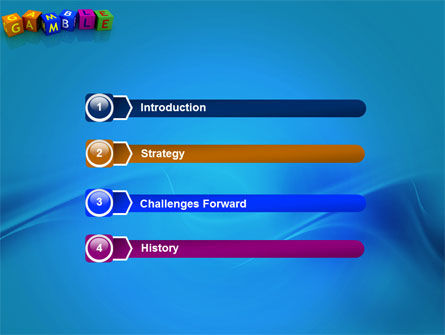 Gamble PowerPoint Template, Slide 3, 03915, Careers/Industry — PoweredTemplate.com