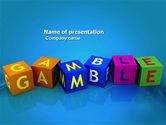 Careers/Industry: Gamble PowerPoint Template #03915