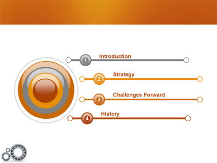 Bearing PowerPoint Template, Slide 3, 03917, Utilities/Industrial — PoweredTemplate.com