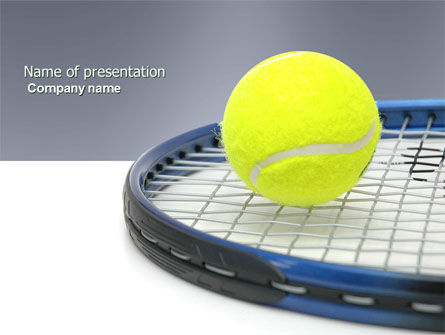 Sports: Tennis Ball PowerPoint Template #03918