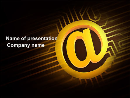Technology and Science: Electronic Connection PowerPoint Template #03921