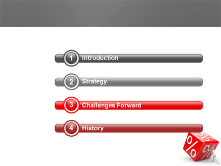Rising Percent PowerPoint Template Slide 3