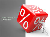 Business Concepts: Rising Procent PowerPoint Template #03922