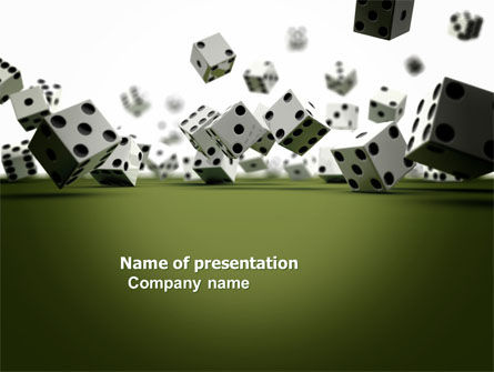 Dice In Game PowerPoint Template, 03923, Business — PoweredTemplate.com