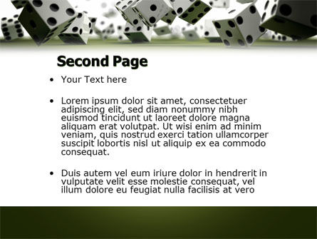 Dice In Game PowerPoint Template, Slide 2, 03923, Business — PoweredTemplate.com