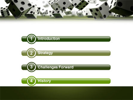 Dice In Game PowerPoint Template, Slide 3, 03923, Business — PoweredTemplate.com