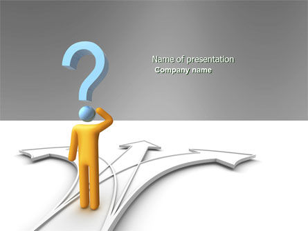 Problem Of Choice PowerPoint Template