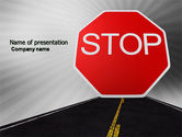 Cars and Transportation: Stoppschild PowerPoint Vorlage #03928